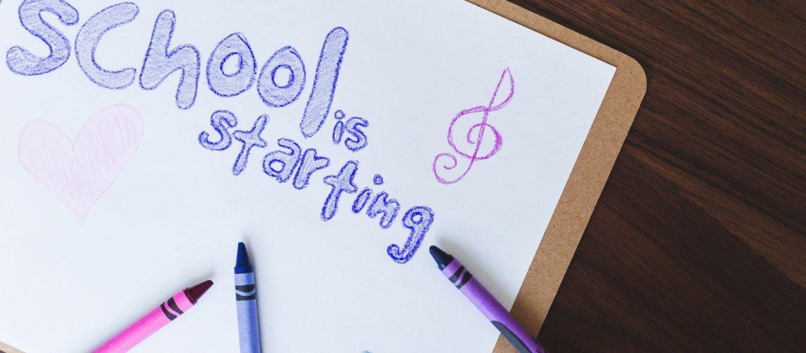 School is starting!