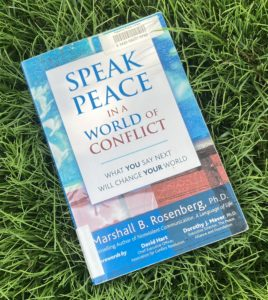 Speak Peace hardcover book on grass