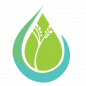 The Ripple Effect Logo: a green and teal raindrop with a small tree inside